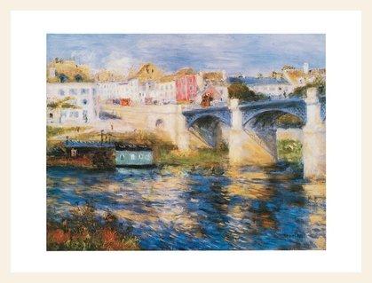 Pierre Auguste Renoir Brücke (Germanposters Pierre Auguste Renoir Brücke in Chatou Poster Bild Kunstdruck im Holzrahmen Ahorn Weiss lasiert 24x30cm)