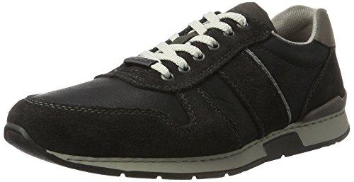 Rieker Herren 19410 Sneaker, Grau (Antracite/schwarz/Polvere), 45 EU