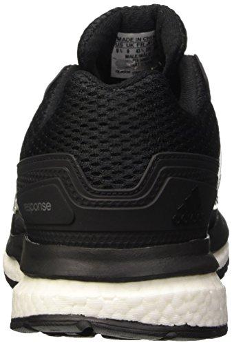 Adidas Response 2 Techfit, Scarpe da Corsa Uomo, Blu Multicolore (Negro / Plata (Negbas / Negbas / Plteme))