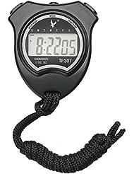 TF307 Chronomètre Multifonctionnel Digital Professional LCD Timer Chronograph Portable Compteur De Sport - Noir