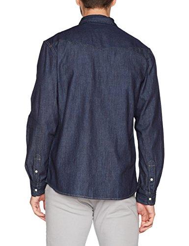 Wrangler Herren Jeans Hemd Western Denim Shirt Blau (Rinse Indigo We)