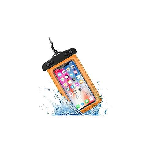 Universal-Unterwassergehäuse für iPhone X Xs Max 8 7 6 S 5 Plus-Abdeckungs-Beutel-Beutel-Kästen für Telefon Coque Wasser-Beweis-Telefon-Kasten, No Logo orange - Anmerkung Handy-kästen 3 Für