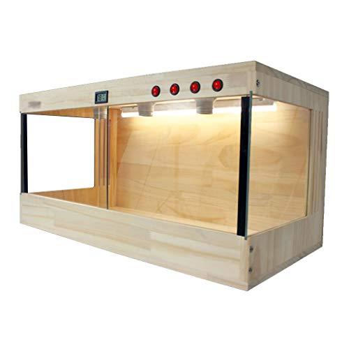 Kiefer Reptilien Box, Vivarium Eidechse Schildkröte Schlange Käfig Uhr Glas Tank-Transport Box Pet Shop Box Katze Hund Pet House (Size : 100 * 50 * 50CM) -