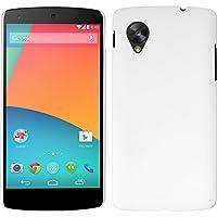 Funda Rígida para Google Nexus 5 - goma blanco - Cover PhoneNatic Cubierta + protector de pantalla