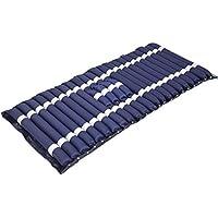 Colchón hinchable con cojín de aire, ideal para inodoro, antideslizante, para evitar el dolor y el dolor en la cama, colchón hinchable, rayas azules