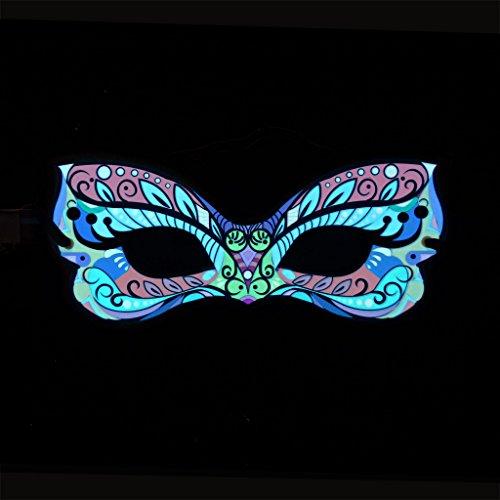 Glühender blinkender Karnevals-Stil - venezianische Maske - Maskeraden-Maske -