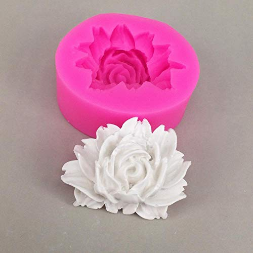 HTC Rose Kuchenform Silikonform Schokolade Gips Seife Süßigkeiten Form Küche Backblech