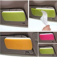 TOUA Auto Accessories Car Sun Visor Box Paper Napkin Holder with Tissue (Random Color)