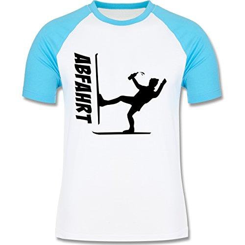 Shirtracer Après Ski - Ski Abfahrt - Herren Baseball Shirt Weiß/Türkis