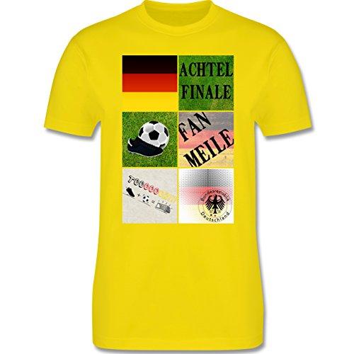 EM 2016 - Frankreich - Deutschland Achtelfinale Fan Shirt - Herren Premium T-Shirt Lemon Gelb