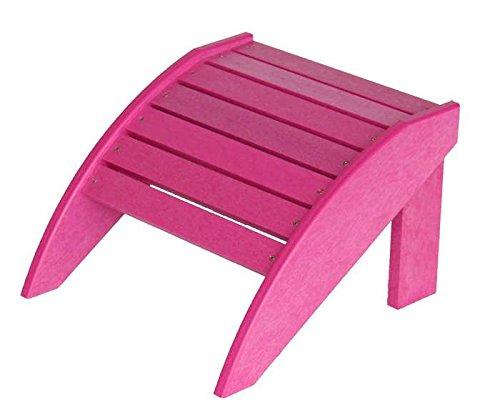 Adirondack Fußbank Exclusiv für Muskoka Gartenstuhl C01 100 % HDPE, Pink