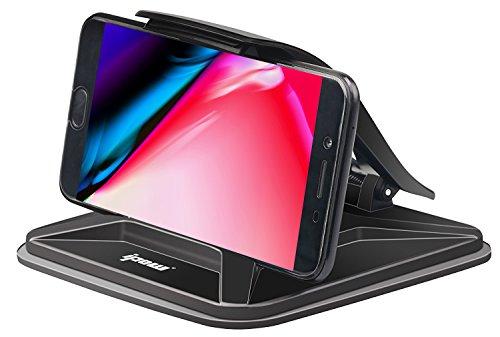 [Hält Handy bis zu 7-Zoll] Ipow Armaturenbrett KFZ Handyhalterung Antirutschmatte auto Handy Halterung mit Saugnapf, Universal für Smartphone wie iPhone X 8 7 7plus 6s Samsung S8 S7 edge Note 8
