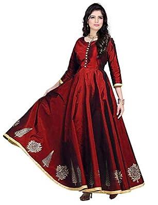 Dresses Creation Women's kurtis - COMFORTABLE Princess cut stitched long Cotton Slub kurta - Designer stylish and readymade,Casual, party wear dress for women