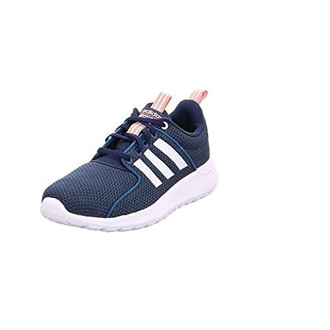 adidas Cloudfoam Lite Racer, Chaussures de Running Entrainement Femme, Bleu (Petrol Night/Footwear White/Trace Pink), 40 EU