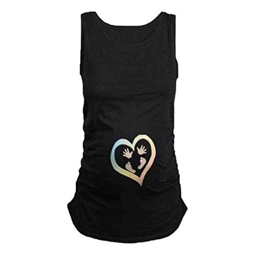 Mengonee Frauen Sommer Plus Größe Schwangere T-Shirts Kleidung Pflege Top Schwangerschaft Für Frauen Marternity T-Shirt