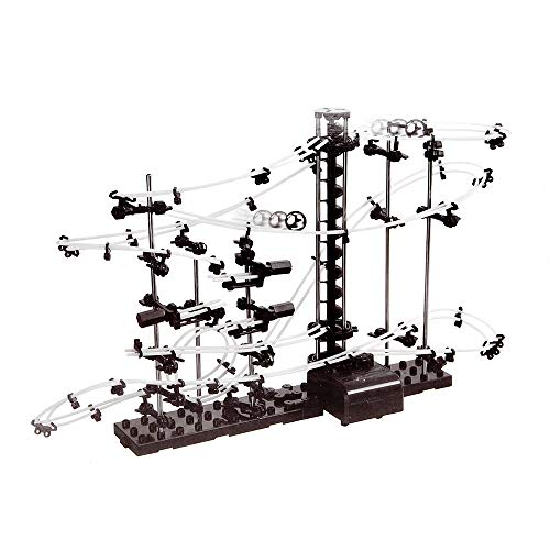 Monsterzeug Kugelbahn mit Looping, Mega Bausatz mit 193 Teilen, 5 Meter Schienenmaterial, Spielzeug für Jugendliche und Erwachsene