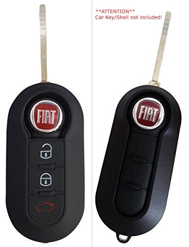 Étui coque en silicone CK + Fiat pour clé de voiture Fiat 500Panda Punto Bravo