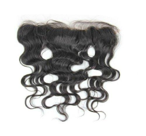 30,5 cm cheveux vierges brésiliens Ondulés dentelle fermeture/fermeture supérieure (33 x 5,1 cm) couleur naturelle 120% Densité