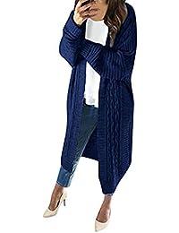 Mxjeeio�� Jersey Mujer Invierno Suéteres de Punto Ligero de Larga para Mujer Abrigos Jersey Tallas Grandes Chaqueta Suéter OtoñO Invierno Cardigan de Punto Ligero Túnicas Manga Larga Blusas Elegantes
