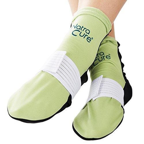 NatraCure Wärmetherapie & Kältetherapie Socken – Klein/Mittel – kalt warm Kompressen – Wärmekompresse & Kältekompresse – Entspannung & Schmerzlinderung bei Fuß Schmerzen & Fersenschmerzen