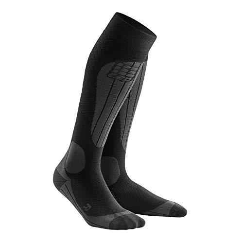 CEP – SKI Thermo Socks, Skisocken in schwarz, Größe III für Damen, Kompressionsstrümpfe Made by medi