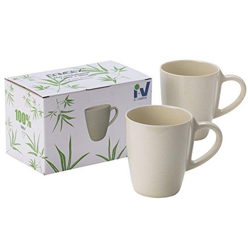 Siehe Beschreibung Bambus Tassen Set 2 Stück spülmaschinengeeignet ohne Schadstoffe Bio Geschirr Tasse Becher Kaffeetasse Kaffeebecher Trinkbecher Camping Becher Tasse Set