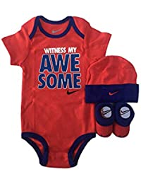 2c5328e7a NIKE Infant Babys 3-Piece Bodysuit, Hat & Booties Set (6-12