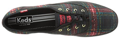 Keds Ch Flock Animaux Baskets Basses Neuf Chauss. Plaid Black