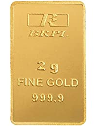 Bangalore Refinery 24k (999.9) 2 gm Yellow Gold Bar