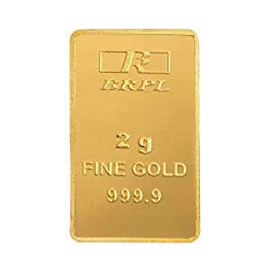Bangalore Refinery 2 gm, 24k (999.9) Yellow Gold Bar