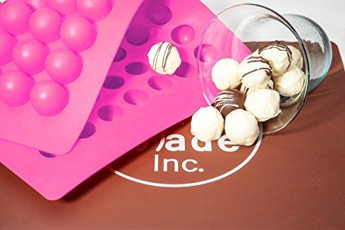 scandibake rund Silikon Form für Schokolade Trüffel, canache, Jelly, Pralinen und Servieren (30mm Durchmesser X 25mm Hoch), 63Mulden (Schokoladen-orangen-trüffel)