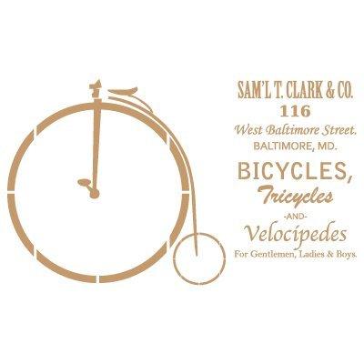 Stencil Vintage Composición 155 Bicicleta antigua. Medidas aproximadas:Tamaño del stencil 30 x (cm) Tamaño de la figura 24.7 x 14.5 (cm)