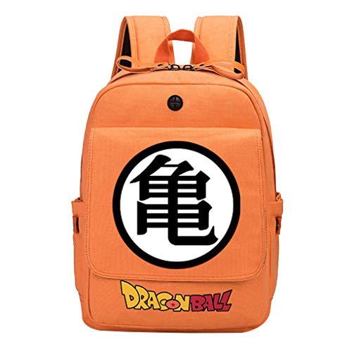 Memoryee Orange Leinwand Anime Dragon Ball Z Rucksack Großer Rucksack Laptop Daypack Schulter Schule Wandertasche Stil2 -