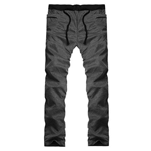 Cargo Plus Größe Shorts (Herren Hose Xinan Freizeit Men Kleidung Herren Jogger Trainingsanzug Running Sport Hosen Jogging Plus Größe (L, Dunkelgrau))