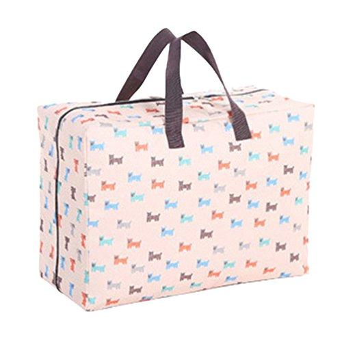 Dexinx Kleidertaschen-Set Leichtgewicht Wasserdicht Kleidertaschen Verpackungswürfel Steppdecke Organizer Beige2 60 * 49 * 33CM