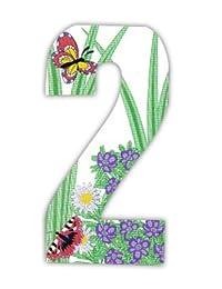 Wheelie bin numbers Butterfly 2