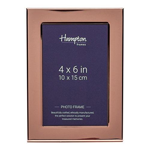 Hampton Optik (Hampton Frames wa7446cp Woburn (Kupfer Teller 10,2x 15,2cm (10x 15cm) Fotos Rahmen mit breit 1in/2,5cm Profil und Rückseite in Samt-Optik und Strebe geeignet für Gravur)