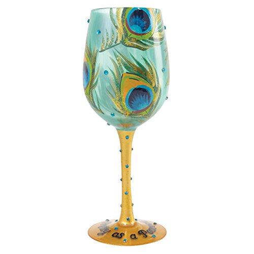 Copa de vino de Lolita «Pretty as a Peacock» (Preciosa como un pavo