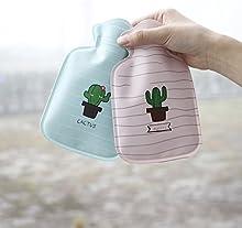 QHGstore Mini de dibujos animados mini botella de agua caliente pequeña mano calentador de dibujos animados de felpa botella de agua caliente sandía
