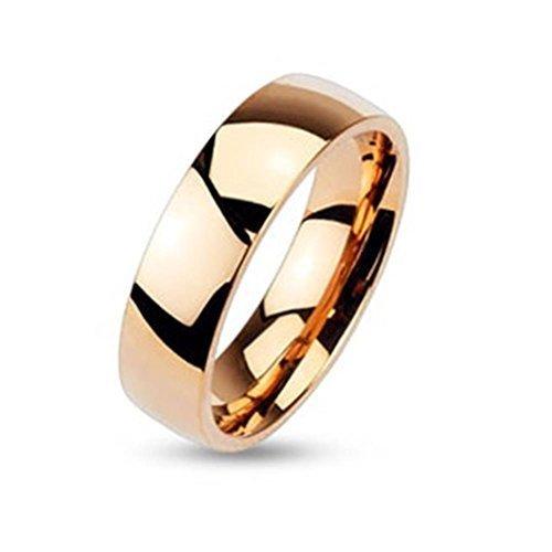 Tapsi´s Coolbodyart® Partner-Ehe-Ring Edelstahl 6mm Breit Rose-Gold 50(16)