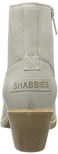 Shabbies Amsterdam Damen Shabbies Stiefelette mit Reisverschluß Kurzschaft Stiefel Grau (Light Grey)
