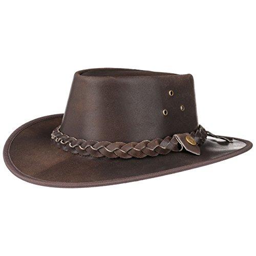 Hooley Cappello in Pelle cappello da uomo cappello da cowboy cappello  australiano f7e3fb7f1342