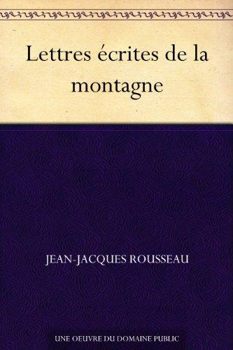 Couverture du livre Lettres écrites de la montagne