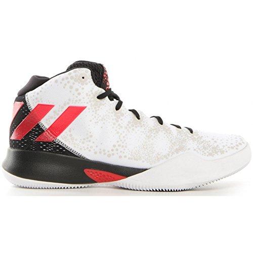 adidas Herren Crazy Heat Basketballschuhe, Verschiedene Farben (Ftwbla/Escarl/Negbas), 46 2/3 EU