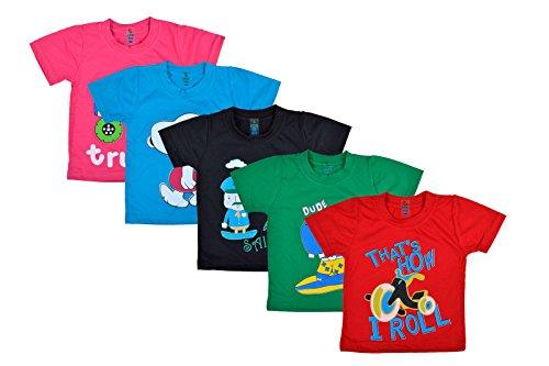 Kuchipoo Baby T-Shirt, Set of 5 (Multi-Coloured)