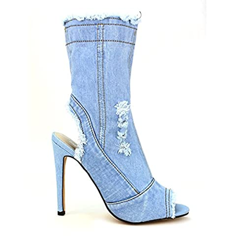 Cendriyon, Lows Boots Jeans Blue clair BELLOS Chaussures Femme Taille 40