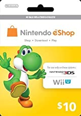Nintendo eShop PrePaid Card $10 Value [US Networks Only NTSC Consoles] Wii U/3DS