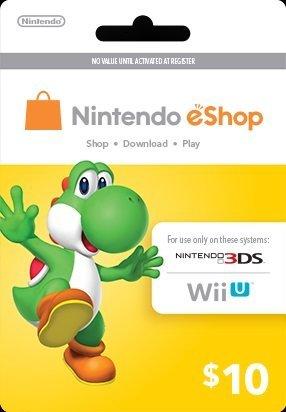Nintendo Yoshi Prepaid eShop $10 for 3DS or Wii U by Nintendo