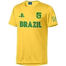 Sony Playstation FC - Brasil - Hombre Oficial Camiseta de Fútbol 1de7aa6373a0b