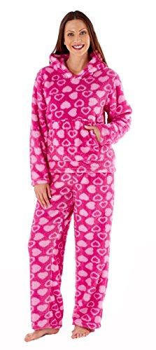 Femmes ImpriméÀ Capuche Twosie Pyjama Ensemble Rose